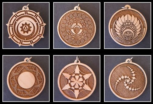 crop circle pendants