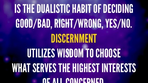 Judgement vs Discernment